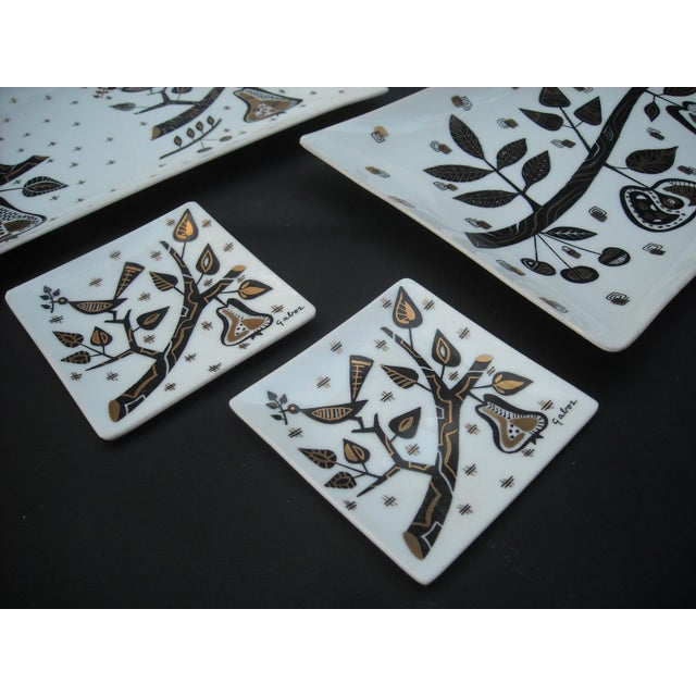 Mid-Century Milk Glass Serving Trays - Set of 5 - Image 3 of 6