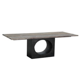 Modern Salvaged Wood Hole Table