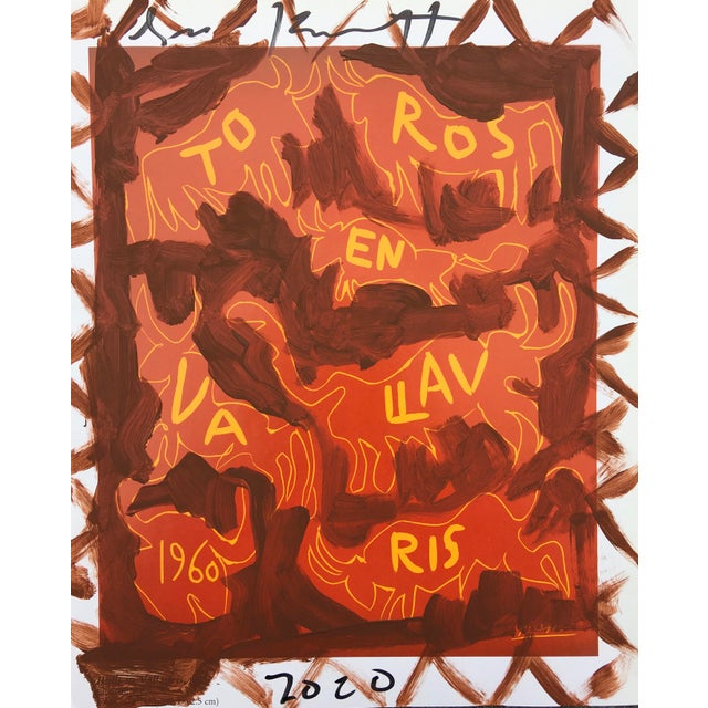 Abstract 'Brown Toros' Framed Picasso Poster Painting by Sean Kratzert For Sale - Image 3 of 3