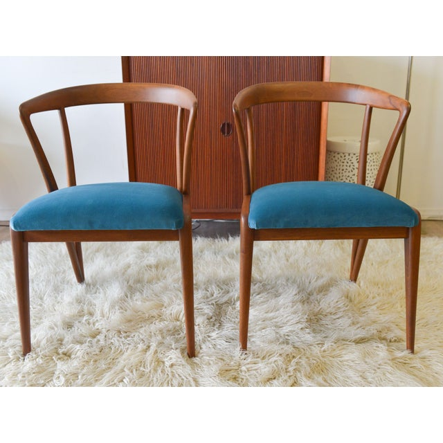Mid-Century Modern Vintage Bertha Schaefer/Gio Ponti Chairs - A Pair For Sale - Image 3 of 7