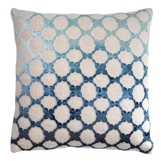 Fretwork Applique Linen Pillow