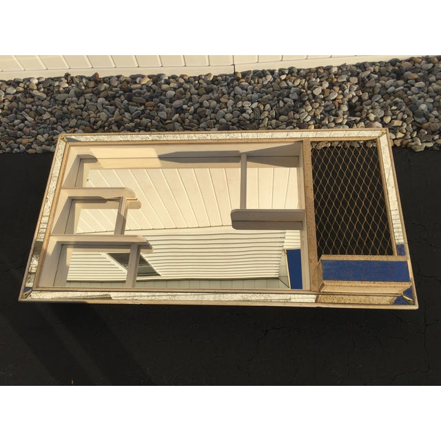 Mid-Century Atomic Mirrored Shadowbox - Image 2 of 9