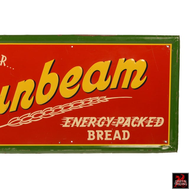 Vintage Sunbeam Bread Sign For Sale - Image 4 of 10