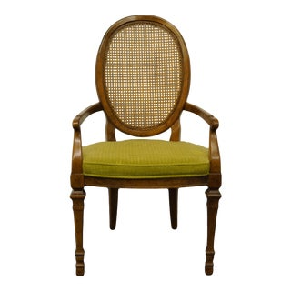 Drexel Heritage Italian Provincial Cane Back Dining Arm Chair For Sale