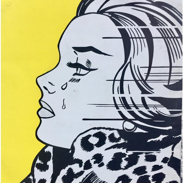 Roy Lichtenstein 1983 vinyl cover art. 12 x 12 inches. Original vinyl album is included. Great frame-able pop art without...