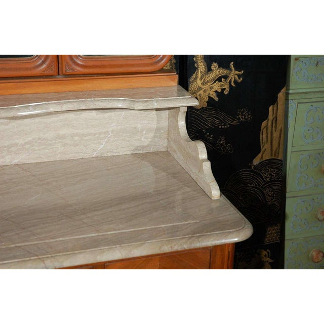 Marble Top Commode with Mirrors For Sale - Image 9 of 10
