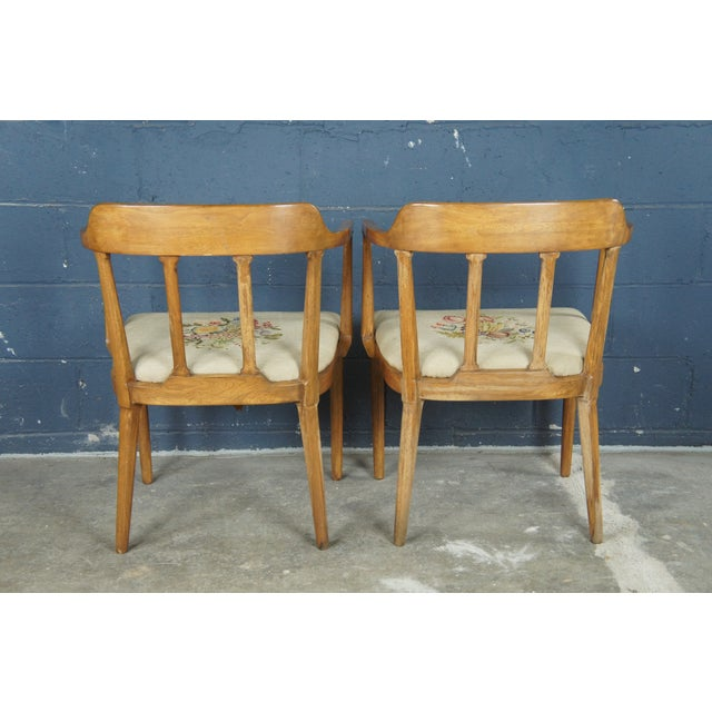 Wood Mid Century Modern Tomlinson Walnut Dining Chairs- A Pair For Sale - Image 7 of 11