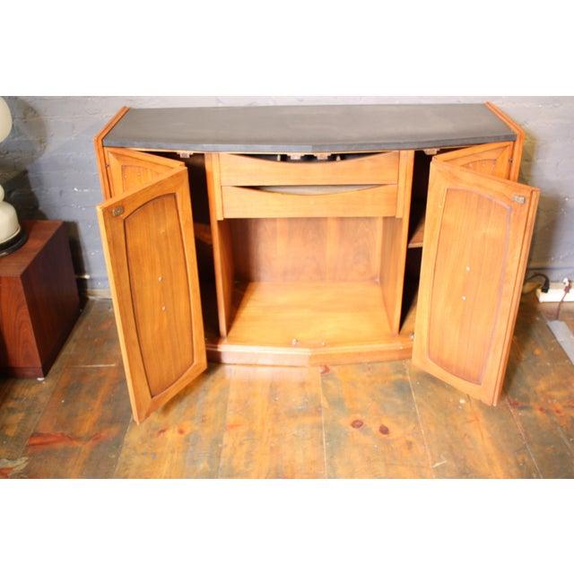 Diminutive Henredon Walnut and Slate Sideboard - Image 3 of 8