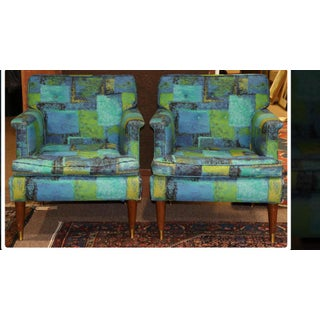 1950s Vintage Mid Century Modern Milo Baughman Lounge Chairs - a Pair Preview