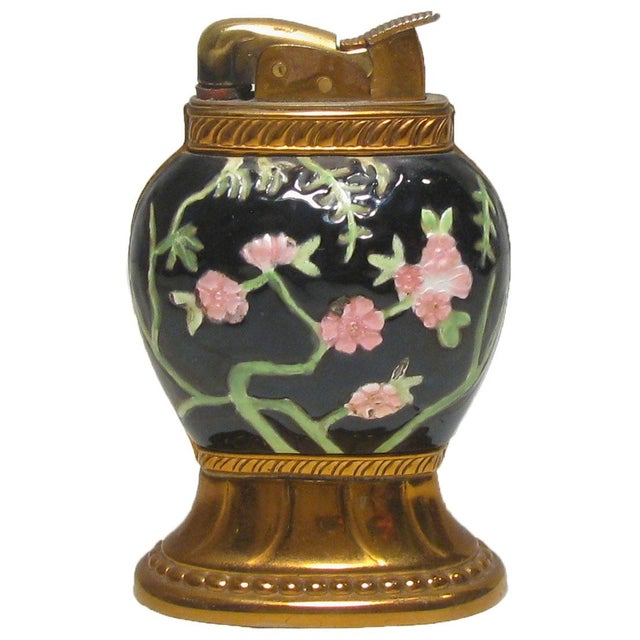 Evans Colorful Chinoiserie Cloisonne Lighter For Sale - Image 4 of 4