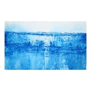 Blue Original Artwork by Clara Berta ''Pirate's Cove'' For Sale
