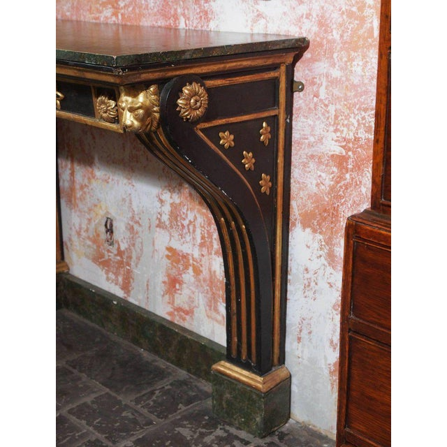 Late 19th Century Antique French Painted and Gold Leaf Console in Neoclassic Style, circa 1860 For Sale - Image 5 of 5