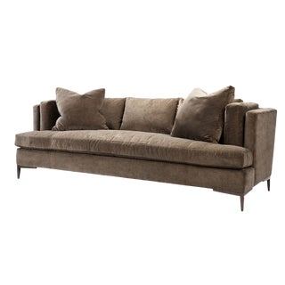 Mid-Century Modern Sofa With Bench Seat For Sale