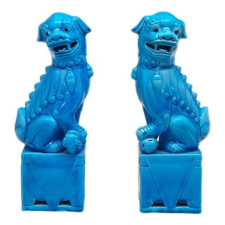 1970s Vintage Fu Dog Bookends - a Pair For Sale