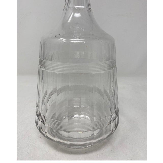 Antique Baccarat Crystal Decanter With Stopper For Sale - Image 4 of 6