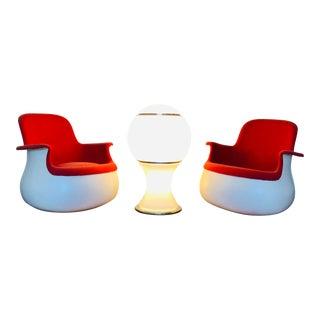 1960s Space Age Modern Fontana Arte Floor Lamp Gianni Celada For Sale