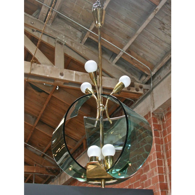 Gold Italian Chandelier, 1950s For Sale - Image 8 of 9