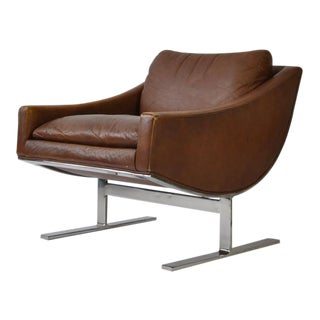 Pair of Kipp Stewart Leather Lounge Chairs For Sale