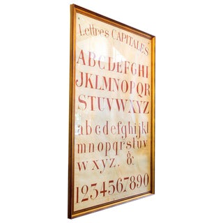 Hand-Painted French Alphabet Chart For Sale