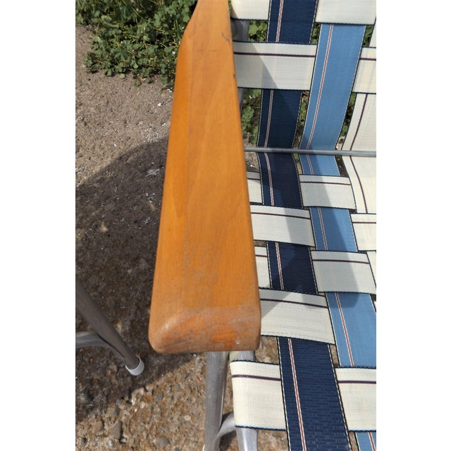 Vintage Aluminum Webbed Folding Lawn or Patio Chairs - A Pair - Image 7 of 9