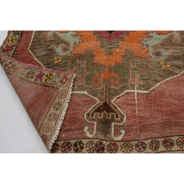 1960s Vintage One of a Kind Turrkish Wool Rug- 5′8″ × 12′1″ For Sale - Image 5 of 7