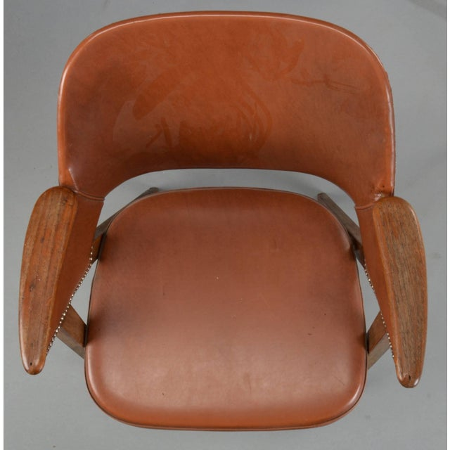 Set of Four Danish Modern Midcentury Teak Armchairs For Sale - Image 4 of 8