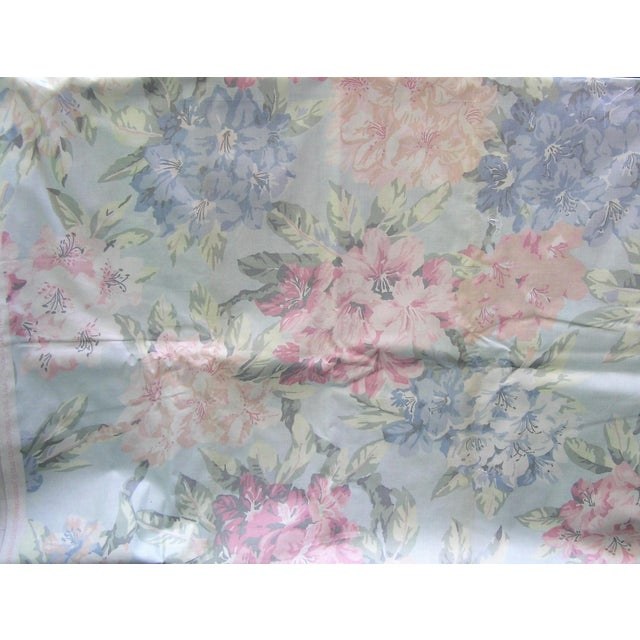 Vintage Schumacher Waverly Cotton Fabric Flower Show Botanical Collection 2-2/5 Yd For Sale In New York - Image 6 of 6
