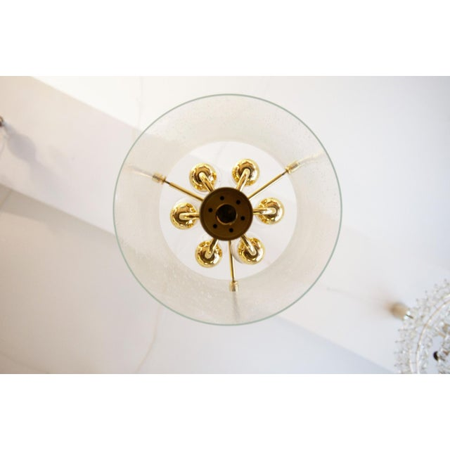 Gold Model 4298 hanging lamp from Glashütte Limburg For Sale - Image 8 of 11