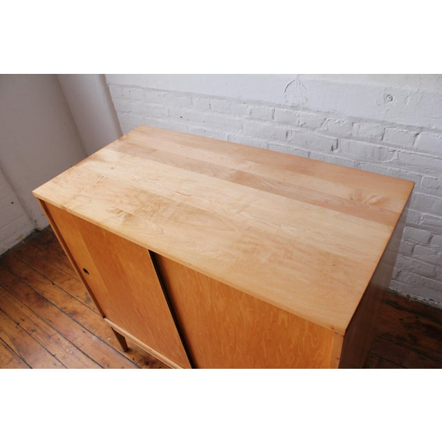 Restored 1950s Mid-Century Modern Paul McCobb Planner Group Mini Credenza Cabinet For Sale - Image 10 of 13