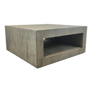 Studio a Modern Gray Driftwood Cocktail Table For Sale