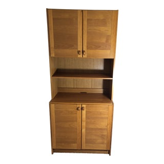 1960s Arts and Crafts China Cabinet For Sale