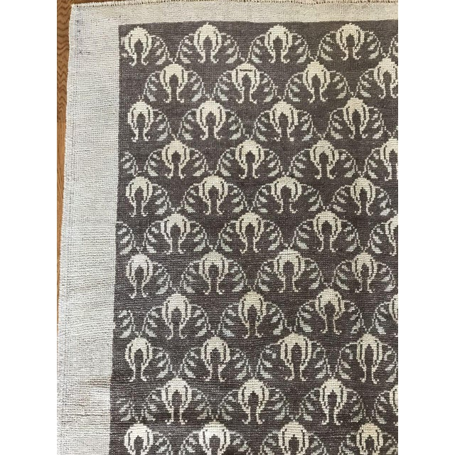 """Contemporary Bellwether Rugs Vintage Brown Patterned Turkish Rug """"Remy"""" - 4′2″ × 6′1″ For Sale - Image 3 of 7"""
