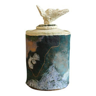 Mid 20th Century Abstract Expressionism Jerry Rothman Lidded Ceramic Vase For Sale