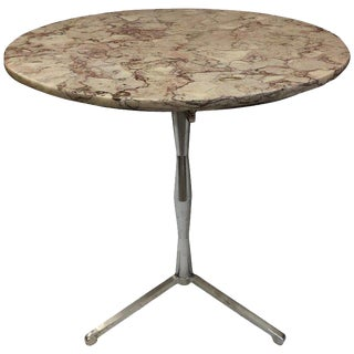 French Marble Top Bistro Table For Sale