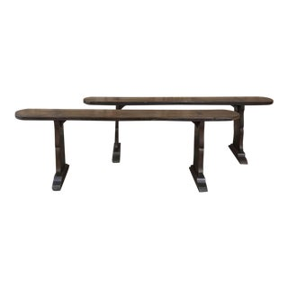 Pair 18th Century Rustic Benches For Sale