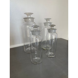 Vintage Clear Glass Apothecary Bottles - Set of 4 Preview