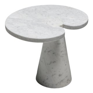 Mangiarotti Carrara Marble Side Table 'Eros Series' for Skipper - 1970's For Sale