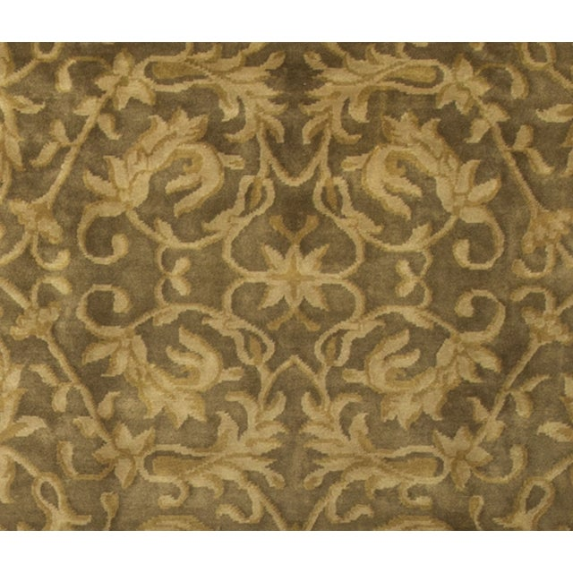 Hand-Knotted Gold Wool Rug - 9′ × 11′10″ - Image 3 of 4