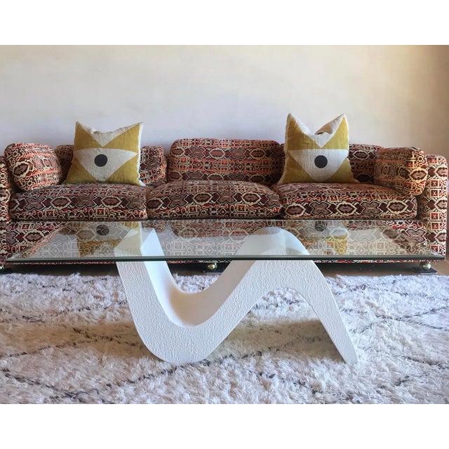 Vintage Post Modern Sculptural Plaster Wave Coffee Table For Sale - Image 12 of 12