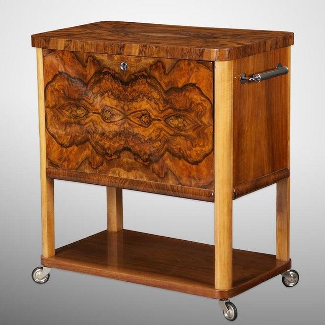 French Art Deco Liquor Cabinet Cart - Image 2 of 5
