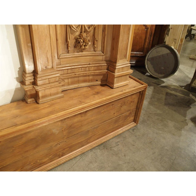 17th Century A Large and Unique Antique French Boiserie Section with Covered Alcove, 17th Century Elements For Sale - Image 5 of 11