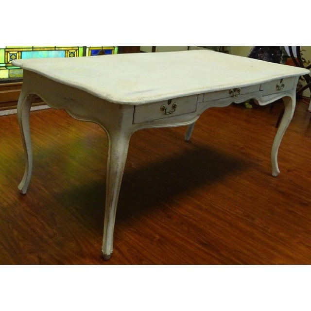 1900 - 1909 Antique Style Louis XV Style Hand Painted Bureau Desk For Sale - Image 5 of 6