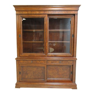 Ethan Allen Townhouse Sliding Door China Cabient Hutch Breakfront For Sale