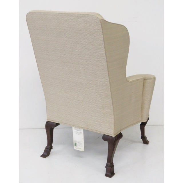Baker Ivory Wingback Chairs - A Pair - Image 5 of 5