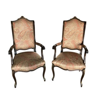 Early 20th Century French Accent Chairs in Etro Fabric - a Pair For Sale