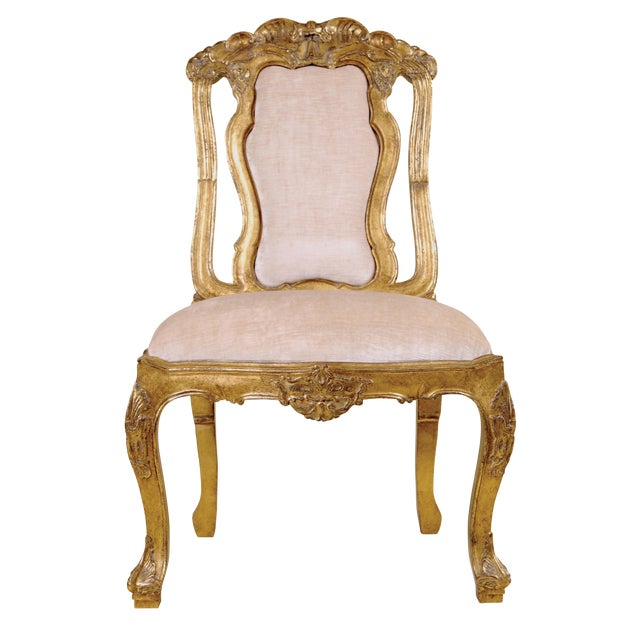 Customizable CARVED ITALIAN SIENNA DINING CHAIR BY RANDY ESADA DESIGNS For Sale