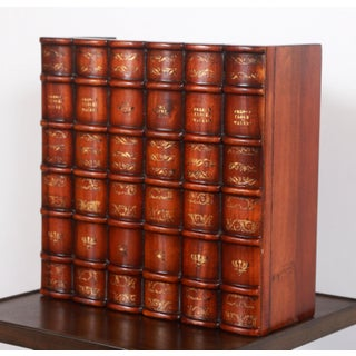 Maitland Smith Carved Wood Faux Books Panel for Bookshelf Preview
