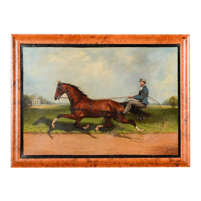 James Hill -19th Century Famous Horse Racing Oil Painting - Image 1 of 10