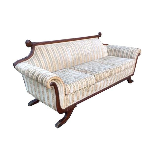 Hollywood Regency American Empire Ornate Sofa - Image 8 of 8