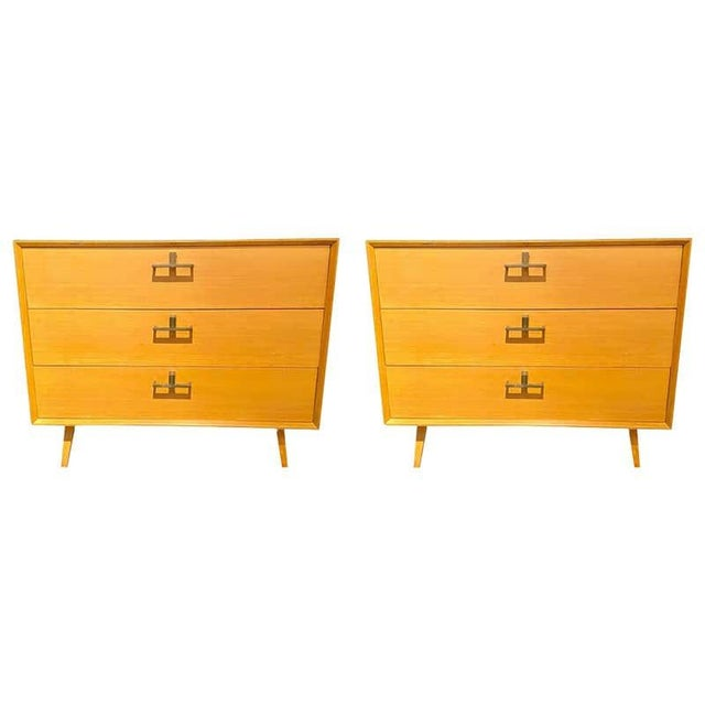 Pair of Mid-Century Modern Bachelor Chest, Commodes or Dressers For Sale - Image 13 of 13